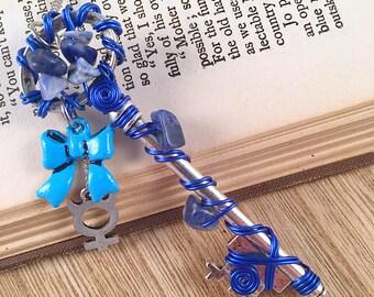 Mercury's Wire Wrapped Key, Nerdy Key Necklace, Skeleton Key Jewelry, Key Jewelry for Her