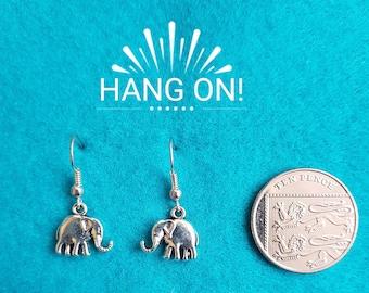 Handmade Tibetan Silver Elephant Earrings