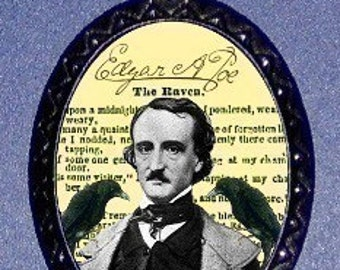 Edgar Allan Poe The Raven Poem Pendant necklace Gothic Psychobilly New