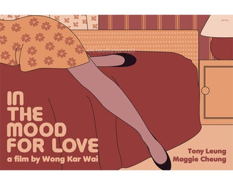 Movie poster In the Mood for Love retro print in various sizes