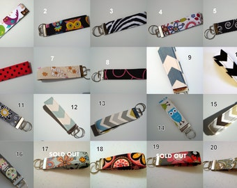 PICK 5 Wristlet Key Fobs - Gift Pack - Free Shipping USA