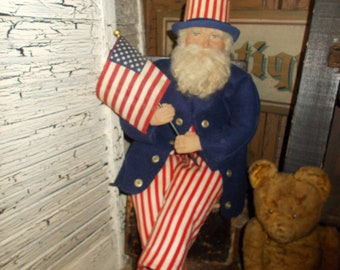 Patriotic Uncle Sam doll , Handmade, Fourth of July
