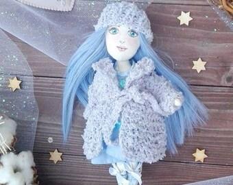 Handmade art textile doll