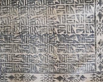 blockprint indigo rug