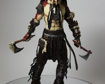 "CUSTOM 7"" Beothuk PREDATOR Native Canadian Articulated Action Figure NECA McFarlane Style"