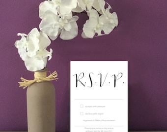 Script Wedding RSVP cards