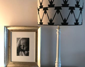 Black Geometric Lampshade