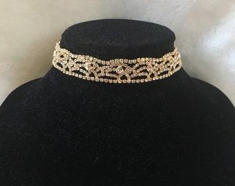 The Victoria Choker// Gold Sparkaly Diamond Jewel Choker// Free Shippig & Gift!!
