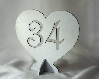 Free standing Wedding Table Numbers, Wedding Table Numbers Set, Wedding Table Decor, Table Numbers, Wood Table Numbers, Silver table numbers