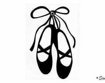 Dance Ballet shoe applique Thermo flex