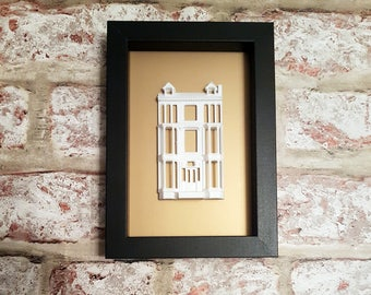 Glasgow Tenement 3D sculpture, 3D Glasgow Architecture, Tenement Sculpture, 3D model in Display Frame