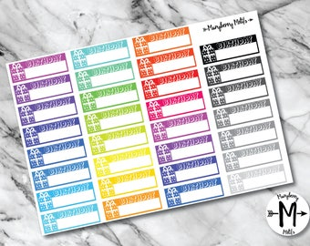 Birthday Tracker Stickers for Planners or Calendars!