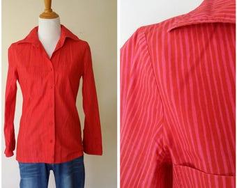 Marimekko top, XS, S, Marimekko blouse, Marimekko tunic, tunic top, striped top, cotton top, designer top