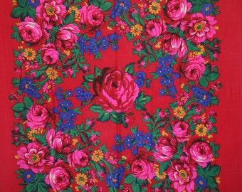 Russian Rose Scarf Shawl Wrap