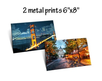 "2 x Photo to Metal Prints 6"" x 8"""