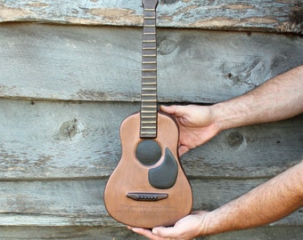 Cremation Urn, Artistic Wall Sculpture- Large Acoustic Guitar for Musician - Unique, Personalized Decorative Funeral Urns for Human Ashes