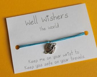 World Charm Bracelet - Keep you safe on your travels | Well Wisher, Travel Gift, Friendship Bracelet, Safe Travels, Travelling, Exploring