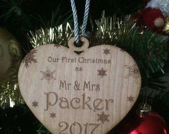 Personalised our first christmas as Mr and Mrs/ Mr and Mr/ Mrs and mrs