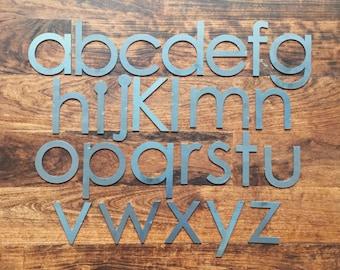 "Modern 4"" Lowercase | Laser Cut Metal Letters"