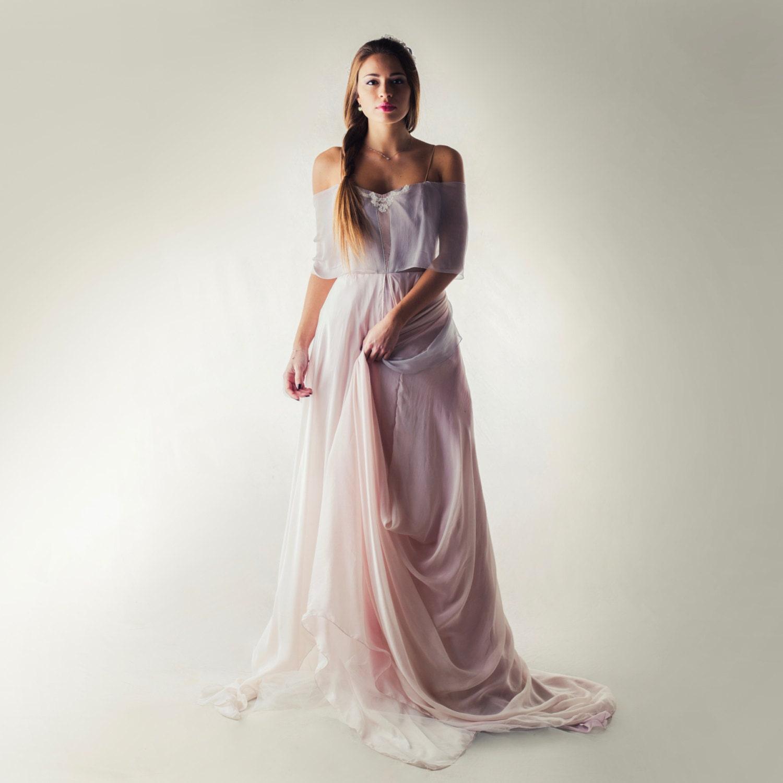 Brautkleid Lavendel Hochzeit Kleid Fee Brautkleid böhmische