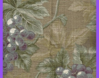 ON SALE Waverly Screen Print Cotton Winery at Rutherford Hill FABRIC Remnant 1/3 Yard 50 Inch Wide