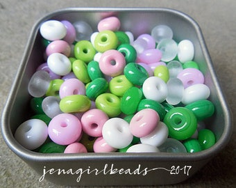 Lilly - Essential Mini Spacers Lampwork Beads - Made To Order