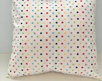 16x16 Baby Rainbow Stars Pillow Cover for Bedroom, Nursery, Game Room, Kids Reading Area, or Gift