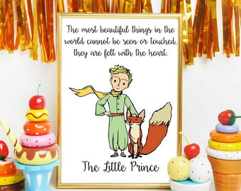 The Little Prince Fox Quote, The Little Prince Party, The Little Prince Wall Art, The Little Prince Print, The Little Prince Quotes