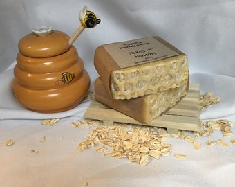 Honey -n- Oats - Handmade, Natural Soap - 3.5oz