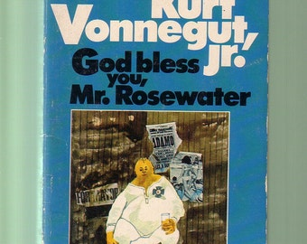 "God Bless You, Mr. Goldwater by Kurt Vonnegut.  1975 Dell Edition Paperback In ""As-Is"" Vintage Condition*. BARGAIN BOOK."