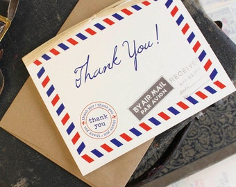 Air Mail Thank You Card - Design Fee