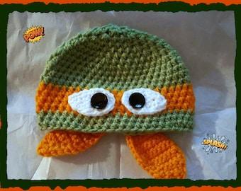 Ninja Turtle Hat Adult Size Handmade Crochet Made to Order