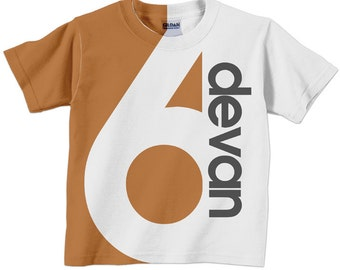 Number T-Shirt, Personalized Boy or Girl T-Shirt. 1st 2nd 3rd 4th 5th 6th 7th 8th 9th Birthday