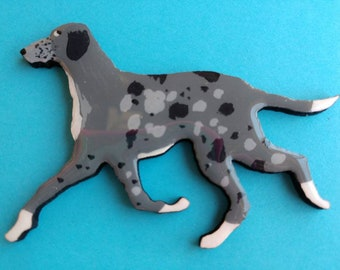 Catahoula Leopard Dog Pin, Magnet or Ornament-Color Choice-Free Shipping-Hand Painted