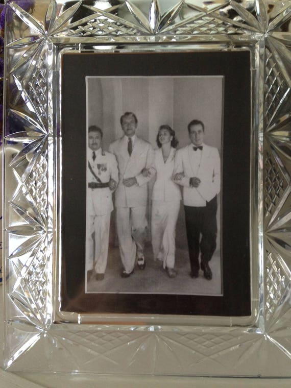 Old Cut Glass Photo Frame from palmbeachmiseenplace on Etsy Studio