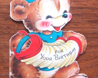 1950s USED Card, birthday card, no envelope
