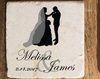 Personalized wedding coasters / Custom Wedding Coasters / Wedding gift / wedding favor