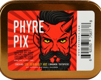 Phyre Pix 120 pack 'Collectors Edition' - Vacuum Infused Cinnamon Flavored Toothpicks  -  We dare you to try 'em!