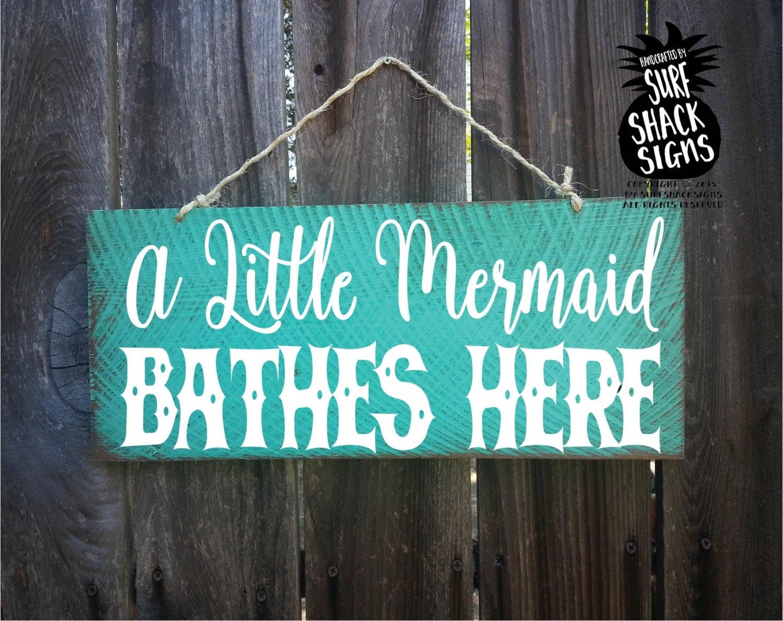 Little Mermaid Decor Little Mermaid Sign Mermaid Decoration