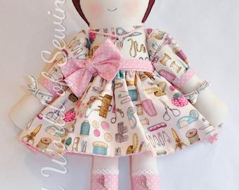 Forbicina - Handmade material doll - Bambola di stoffa