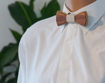 Wooden Bow Tie - Walnut - Wedding bow tie - Special moments