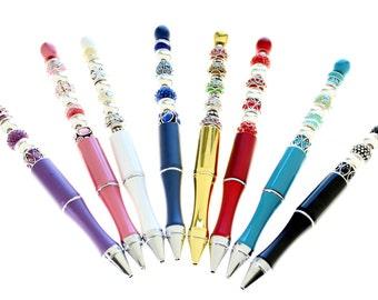 Crystal Blingy Beaded Pen In Fabulous Bright Colors - (1 Pen)