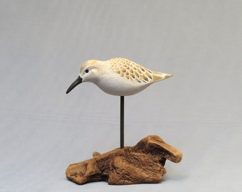 Western Sandpiper Woodcarving
