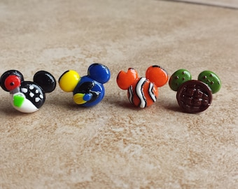 Finding Nemo Dory Mouse Inspired Clay Earrings