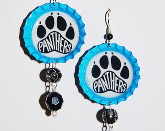 Carolina Panthers Inspired Earrings