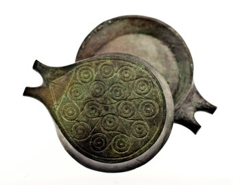 Bronze Vessel, Ancient Greek Cycladic Frying Pan, Metal Art Sculpture Paperweight, Museum Quality Art, Collectible Art, Desk Top Decor