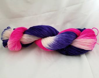 Fairy Garden 100% superwash hand dyed sock yarn 400 yards