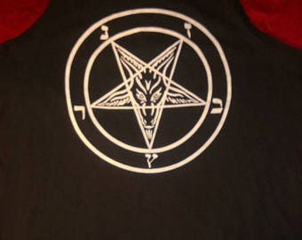 Pentagram Men's Sleeveless T Shirt Tank Top - Witchcraft Evil Satan Wicca occult clothing for witch or coven
