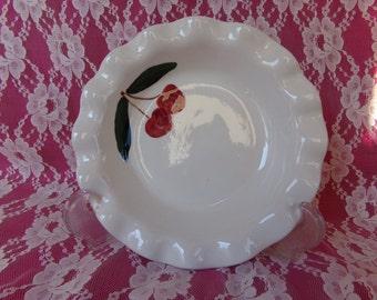 Fluted Rim Vanilla Tart Pan with Cherries