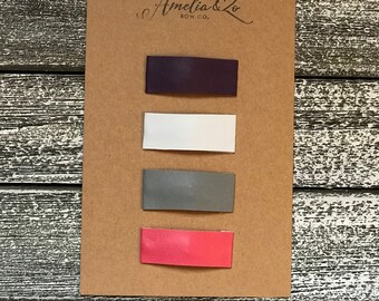 Snap clips- Faux Leather Hair Clip